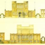 Museum G.M. Kam met conciërgewoning, geaquarelleerde geveltekeningen van Oscar Leeuw, ca. 1920. Coll. Museum Het Valkhof Nijmegen