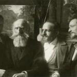 De familie Leeuw met P. Bodifée.